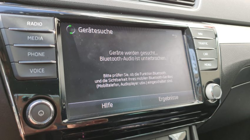 Bluetooth Skoda Superb verbinden