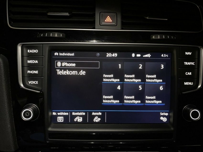 VW Display Bluetooth verbinden