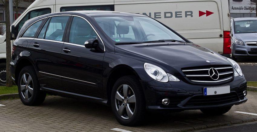Mercedes-Benz R 500 4MATIC (W 251, 1. Facelift) – Frontansicht, 9. Februar 2014, Düsseldorf.jpg
