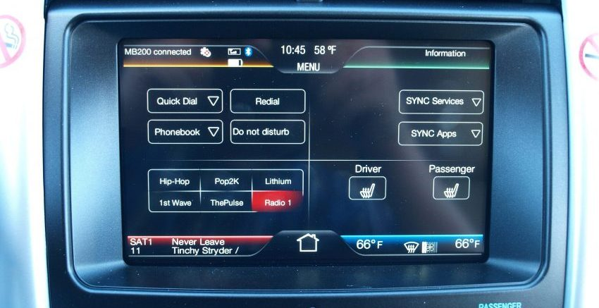 Ford Infotainment System per Bluetooth