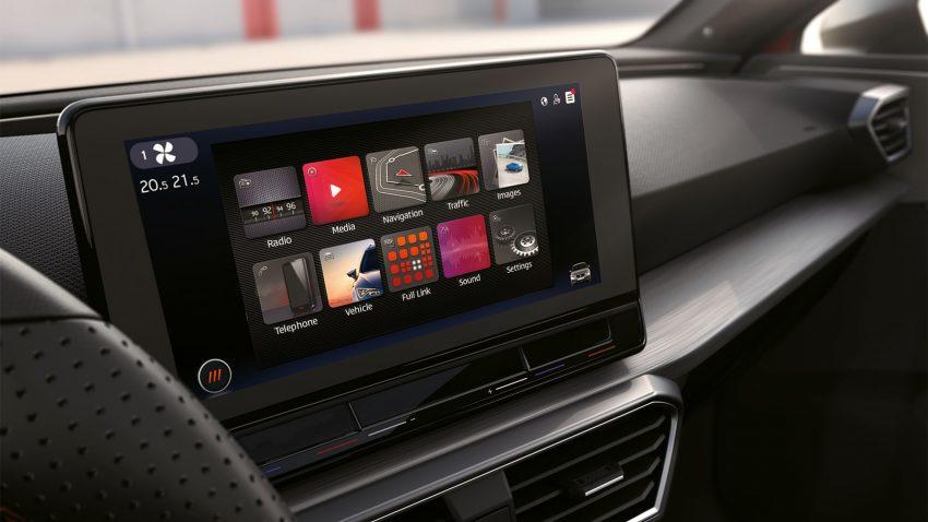 Seat Infotainment System Bildschirm