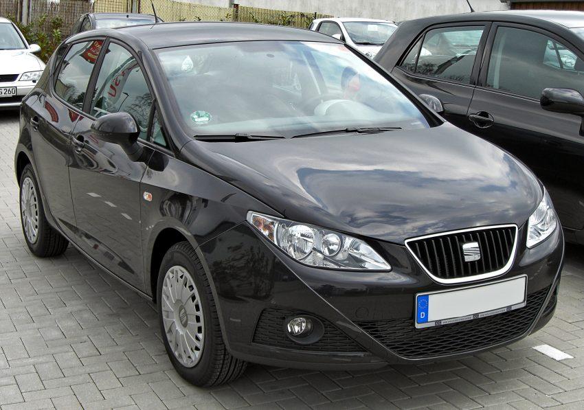 Schwarzer Seat Ibiza IV